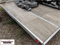 "Sled Bed snowmobile trailer, 8'6"" x 12', 2 hold do"