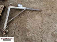 Truck bed lift, hand winch