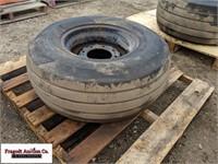 (1) 12.5L-16 tire on 8 bolt rim