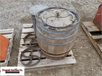 Butter churn barrel and other container with spigo