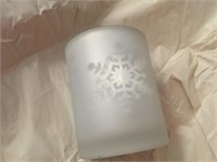 (12) NIB FROSTED TEA LIGHT HOLDERS W/GIFT BOXES