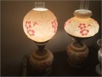 (3) PARLOR HURRICANE LAMPS