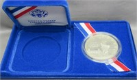 1986-S Liberty Silver Dollar with Box.