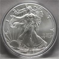 2018 One Ounce Fine Silver Eagle.