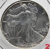 1999 One Ounce Fine Silver Eagle.