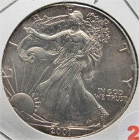 2001 One Ounce Fine Silver Eagle.