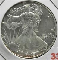 2005 One Ounce Fine Silver Eagle.