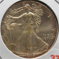 2009 One Ounce Fine Silver Eagle.