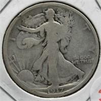 1917 Walking Liberty Silver Half Dollar.