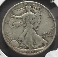 1943-S Walking Liberty Silver Half Dollar.