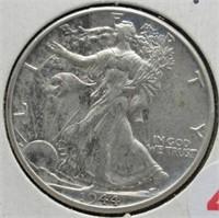1944 Walking Liberty Silver Half Dollar.