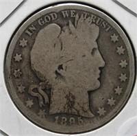 1895 Barber Silver Half Dollar.