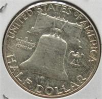 1962 Franklin Silver Half Dollar.