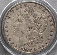 1883 Morgan Silver Dollar.