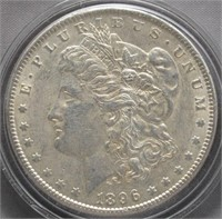 1896 Morgan Silver Dollar.