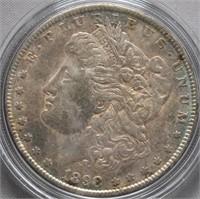 1898 Morgan Silver Dollar. Toning.