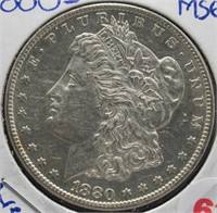1880-S Morgan Silver Dollar.