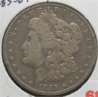 1885-O Morgan Silver Dollar.