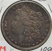 1888 Morgan Silver Dollar.