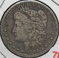 1896-O Morgan Silver Dollar.