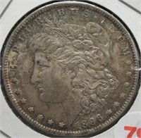 1896 Morgan Silver Dollar.