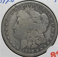 1899-O Morgan Silver Dollar.