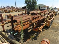 OFF-ROAD Pipe Trailer with Assorted Used Pipe