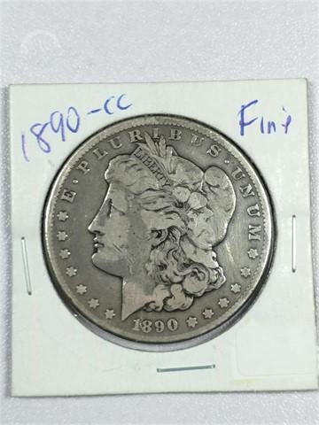 Lot # 9640 - US MINT 1890-CC MORGAN DOLLAR