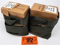Two Military Style Ammo Carriers with 12 GA Shells