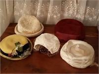 Vintage hats, set of 5