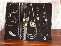 Vintage costume jewelry collection, emerald