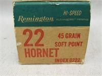 (qty - 50rds) Remington .22 Hornet-