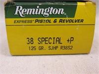 (qty - 50rds) Remington .38 SPL +P-