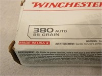 (qty - 50rds) Winchester .380 Auto Ammo-