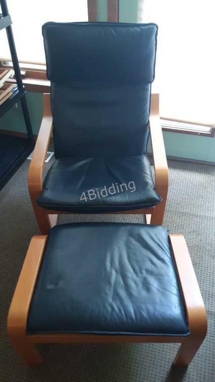 Astounding Lr Ikea Poang Chair Foot Stool 4Bidding Com Ibusinesslaw Wood Chair Design Ideas Ibusinesslaworg
