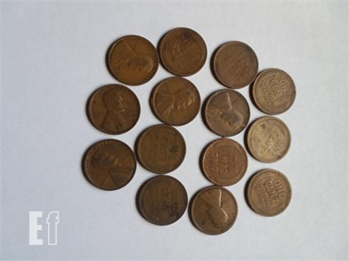 1919 ROLL OF 50 Pennies U S  Coins Online Auctions - 1
