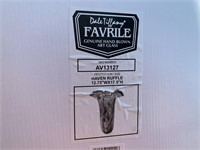 NIB DALE TIFFANY FAVRILE HAVEN RUFFLE HAND BLOWN