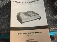 NIB COOKS ESSENTIAL NO STICK BUFFET SERVER