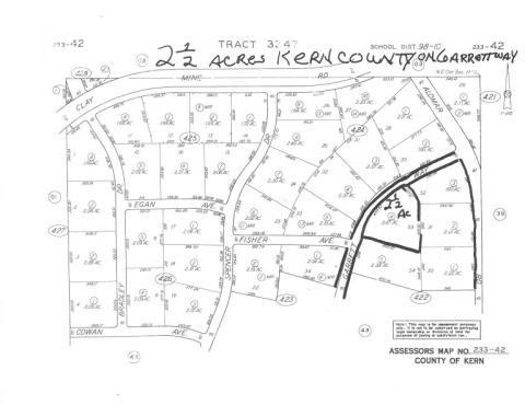 Lot # 375 - VACANT PARCEL 2 5 Acres in Kern County, CA