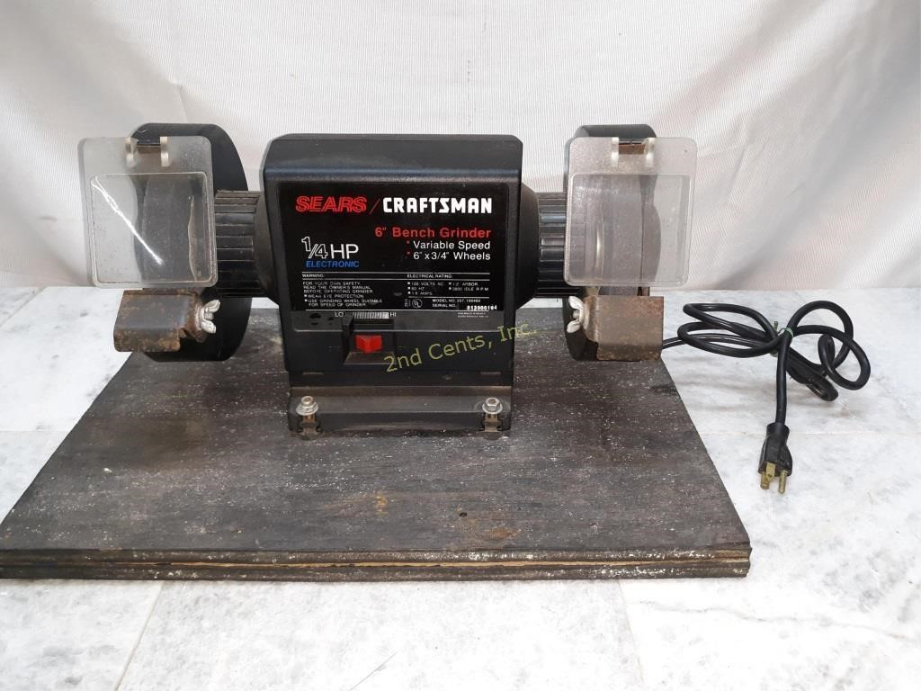 Tremendous Sears Craftsman 1 4 Hp Electronic 6 Bench Grinder 2Nd Lamtechconsult Wood Chair Design Ideas Lamtechconsultcom