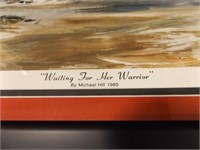 """""""Waiting For Her Warrior"""" by Michael Hill 1985"""