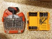 Drill Bit Set, Ratcheting T-Driver, Gloves