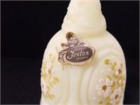 "Fenton Bell; Handmade; 6¾"" h ; w/floral design"