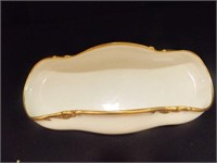 Haviland Limoges Oblong server white w/Gold trim