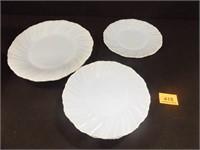 Jeanette Blue Delphite Swirl Plates