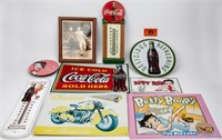 Lot of Vintage Reproduction Tin Signs Coca Cola