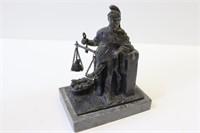 UNSIGNED. Bronze Sculpture Of Justice.