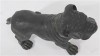 Patinated Cast Metal Bulldog.