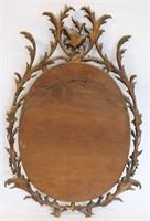 Antique Rococo Carved Giltwood Mirror.