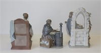 Lladro. Grouping of Four Porcelain Figurines